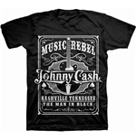 Johnny Cash MEN'S TEE: Music Rebel (T-SHIRT Unisex TG. 2)