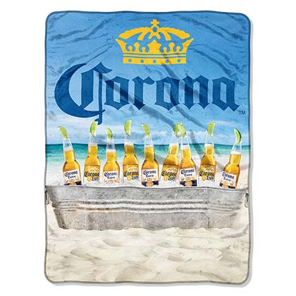 Coperta/Telo Corona EXTRA Plush Throw Beach Scene