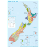 New Zealand - Map (Poster Maxi 61x91,5 Cm)