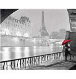 Paris - Eiffel Tower Kiss (Poster Mini 40x50 Cm)