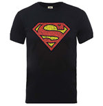 Dc Comics - Originals Superman Shield Crackle Logo (T-SHIRT Unisex )