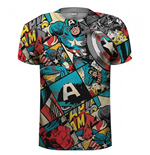 Marvel Comics - Captain America Comic Strip (T-SHIRT Unisex TG. 2)