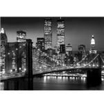 New York - Brooklyn Bridge Night (Poster Giant 100x140 Cm)