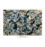 Pollock - Silver On Black (Poster Maxi 61x91,5 Cm)