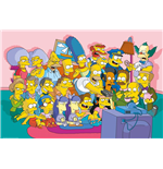Poster I Simpsons - Sofa Cast - 61 x 91,5 cm