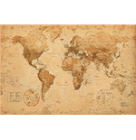 World Map - Antique Style (Poster Maxi 61x91,5 Cm)