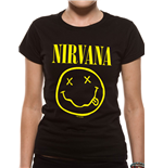 Nirvana - Smiley (T-SHIRT Donna )