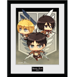 Attack On Titan Season 2 - Chibi Trio (Stampa In Cornice)