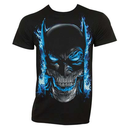 T-shirt Batman Blue Flame