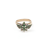 Zelda - Ring With Green Triforce Logo Metal (Anello Tg. L)
