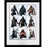 Stampa In Cornice - Assassin's Creed - Compilation Characters - 30x40cm