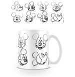 Mickey Mouse (Sketch Faces) (Tazza)