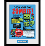 Minecraft - Grow Your Own Zombie (Stampa In Cornice 30x40cm)