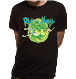 T-shirt Rick and Morty - Black Portal