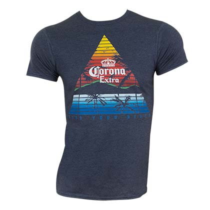 T-shirt Corona Triangle Logo