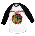 Iron Maiden - Raglan Baseball Piece Of Mind (T-SHIRT Manica Lunga Unisex )