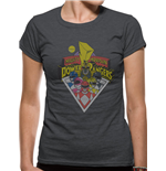 Power Rangers - Group (fitted T-SHIRT Donna )