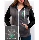 Harry Potter - House Slytherin Zip (felpa Con Cappuccio Unisex )