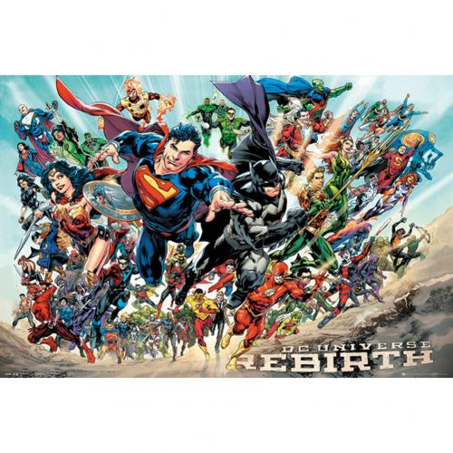Poster Supereroi DC Comics Rebirth