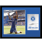 Chelsea - Willian 16/17 (Stampa In Cornice 30x40 Cm)