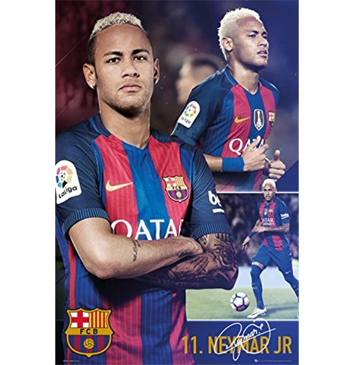 Barcelona - Neymar Collage 16/17 (Poster Maxi 61x91,5 Cm)