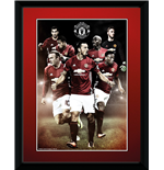 Manchester United - Players 16/17 (Stampa In Cornice 15x20 Cm)