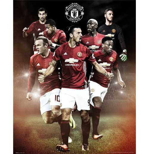 Manchester United - Players 16/17 (Poster Mini 40x50 Cm)