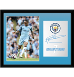 Manchester City - Sterling 16/17 (Stampa In Cornice 30x40 Cm)