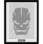 Call Of Duty - Skull Pattern (Stampa In Cornice 30x40 Cm)