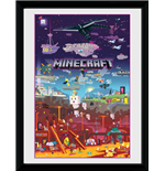 Minecraft - World Beyond (Stampa In Cornice 30x40cm)