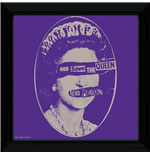 Sex Pistols - God Save The Queen (Stampa In Cornice 30x30 Cm)