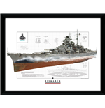 World Of Warships - Bismark (Stampa In Cornice 30x40 Cm)