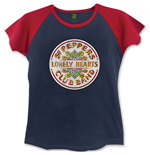 Beatles (THE) - Sgt Pepper BLUE,RED (T-SHIRT Donna )