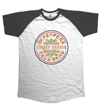 Beatles (THE) - Raglan Baseball Sgt Pepper Drum (maglia Manica Lunga Unisex )