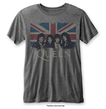 Queen - Vintage Union Jack Grey (T-SHIRT Unisex )