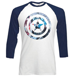 T-shirt Marvel Superheroes da uomo - Design: Captain America Shield Block