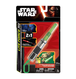 Star Wars - Yoda - Clip On A Forma Di Spada Laser Con Luce Led Verde