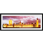London - Big Ben (Stampa In Cornice 76x30 Cm)