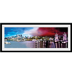London - Day & Night (Stampa In Cornice 76x30 Cm)