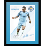 Manchester City - Sterling 16/17 (Stampa In Cornice 15x20 Cm)
