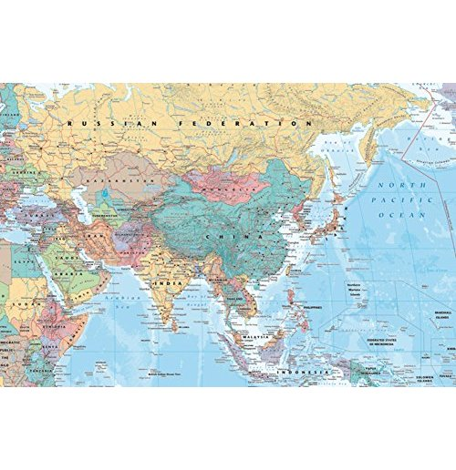Asia & Middle East - Map (Poster Maxi 61x91,5 Cm)