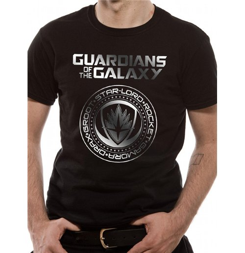 Guardians Of The Galaxy Vol 2 - Crest Silver Foil (T-SHIRT Unisex )
