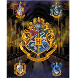 Harry Potter - House Crests (Poster Mini 40x50 Cm)