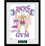 Rick And Morty - Ricks Gym (Stampa In Cornice 30x40 Cm)