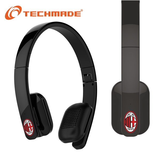 Techmade Cuffie Bluetooth Ac Milan