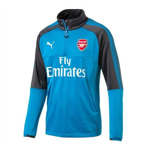 Felpa Arsenal 2017-2018 (Blu)