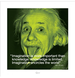 Albert Einstein - I.Quote - Imagination (Poster 40X40 Cm)
