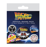 Back To The Future - Delorean (Badge Pack)