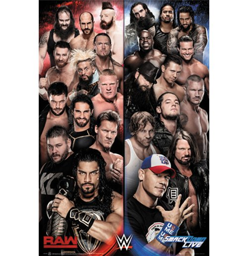Wwe - Raw V Smackdown (Poster Maxi 61x91,5 Cm)