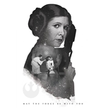 Star Wars - Princess Leia May The Force Be With You (Poster Maxi 61X91,5 Cm)